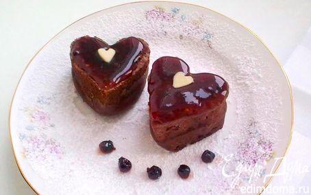 Рецепт Шоколадный пудинг с жидкой начинкой.