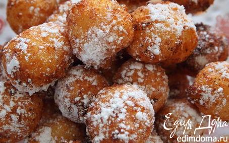 Рецепт Творожные пончики.