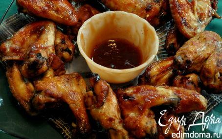 Рецепт Куриные крылышки в домашнем барбекю соусе