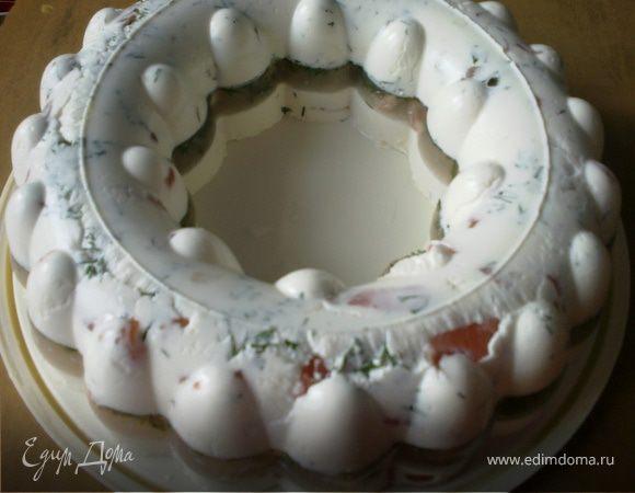 Лососево-креветочный торт
