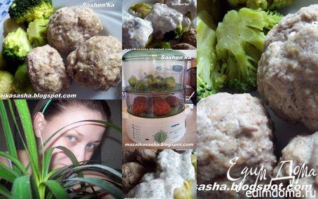 Рецепт Котлеты из говядины с овощным гарниром на пару с йогуртовым соусом в пароварке