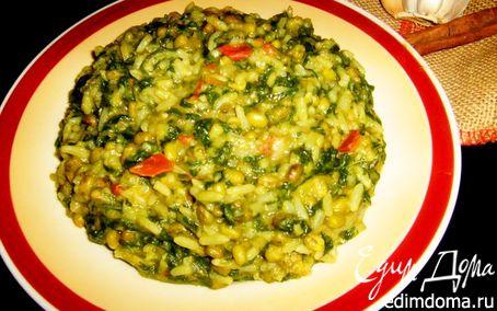Рецепт Гили Кичри (Маш, рис, шпинат)
