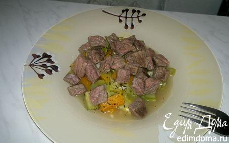 Рецепт Рагу из молодых овощей и говядины
