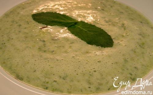 Рецепт Нежный крем-суп из салата латука и мяты