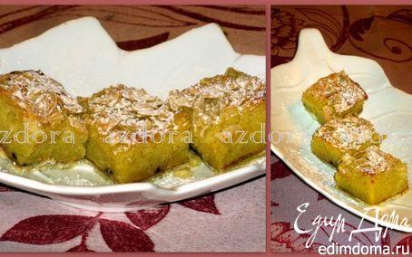 Рецепт Пирожные со сливой и миндалём