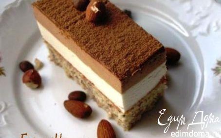 Рецепт Ореховый торт с двумя муссами