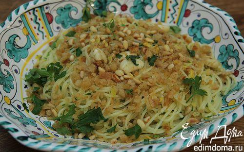 Рецепт Сицилийские спагетти с пряным оливковым маслом