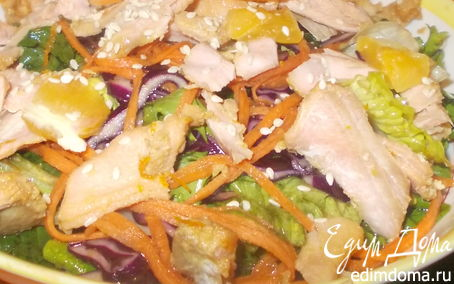 Рецепт Салат с рыбкой в апельсине
