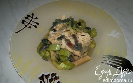 Рецепт Паста с рыбой на подушке из овощей и специй