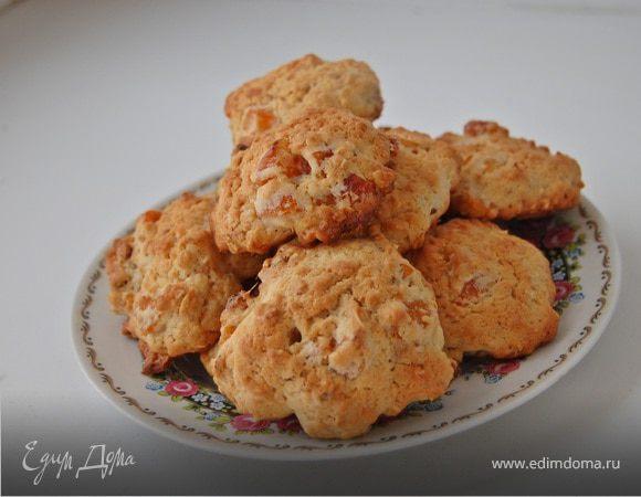 Овсяное печенье с курагой