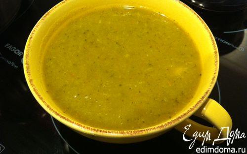 Рецепт Вегетарианский суп из зеленой капусты, брокколи и моркови в скороварке