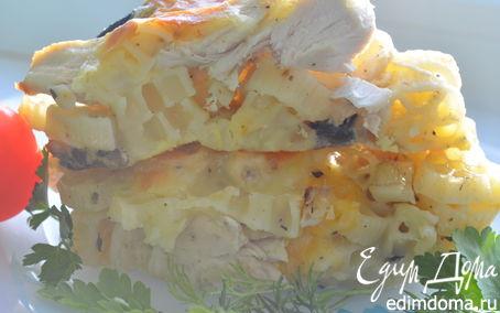 Рецепт Запеканка из макарон с грибами и курицей