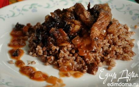 Рецепт Говядина, тушеная с черносливом