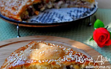 Рецепт Пирог с индейкой и картофелем+бонус-пирожки