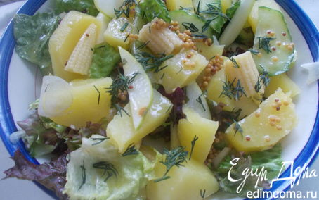 Рецепт Картофельный салат с кукурузой