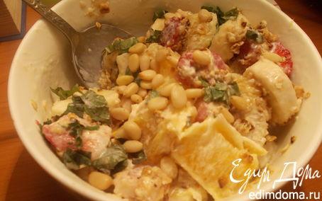 Рецепт Фруктовый салат с овсяными хлопьями
