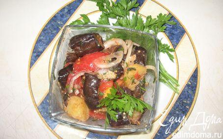 Рецепт Салат с жареными баклажанами