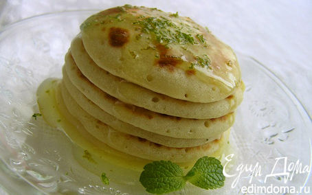 Рецепт Апельсиновые оладьи с лаймовым соусом
