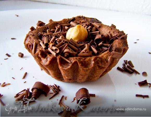Шоколадные тарталетки с кофейно-шоколадным кремом