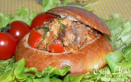 Рецепт Ужин в хлебной булочке