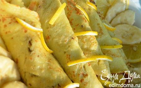 Рецепт Манные блины с банановой начинкой
