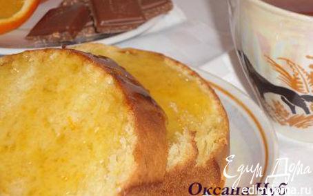 Рецепт Апельсиновый кекс с карамелью