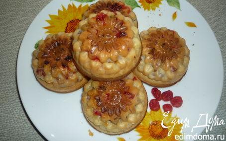Рецепт Маффины с изюмом и вишней