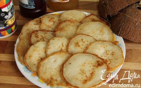 Рецепт Без глютена. Кокосовые оладушки из рисовой муки