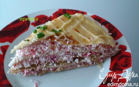 Рецепт Торт-салат из блинчиков «Изобилие»
