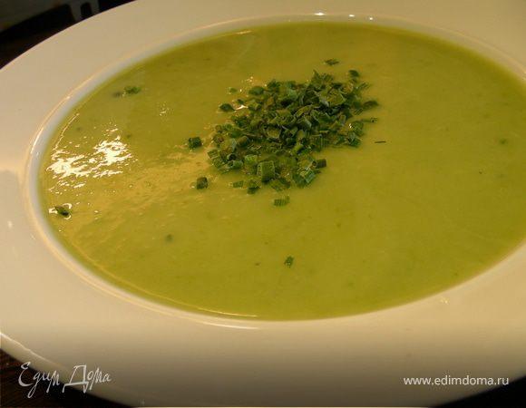 Крем-суп из спаржи и цукини