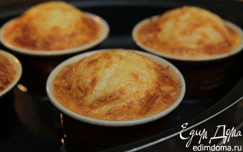 Рецепт Крабовое суфле с чеддером и пармезаном