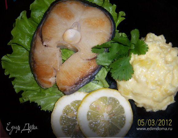 Запечённая, вкусная рыбка с ароматным пюре
