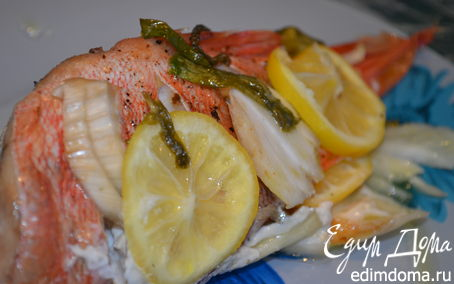 Рецепт Рыбка с лимоном и фенхелем
