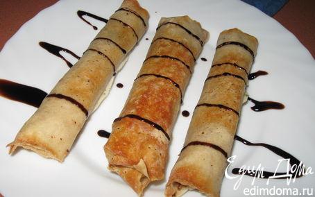 Рецепт Сигары с орехово-масляной начинкой