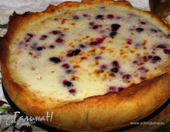 Ягодный пирог с йогуртовой заливкой