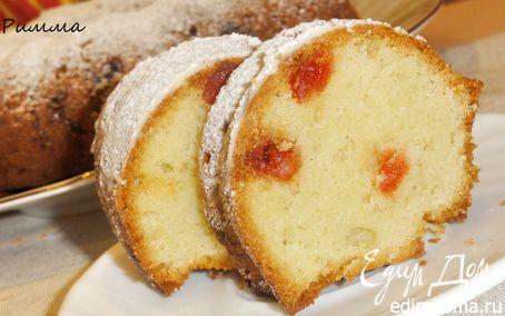Рецепт Марципановый кекс с вяленой вишней