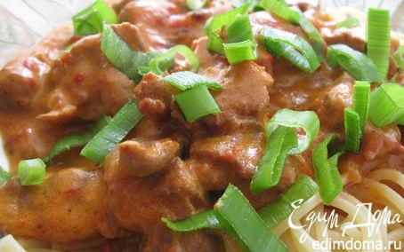 Рецепт Паприкаш из свинины и куриных желудков