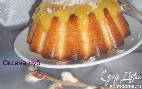 Рецепт Кокосовый кексик в апельсиновой глазури