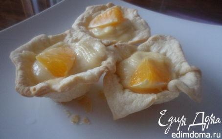 Рецепт Корзиночки слоеные с творожным кремом