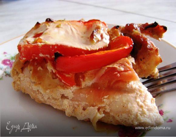 Курица с овощами, запеченная в йогурте с имбирем