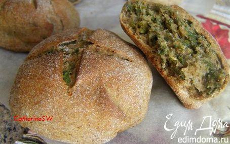 Рецепт Ржаные булочки с зеленью и пряностями