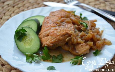 Рецепт Куриная грудка в густом луковом соусе (для Марии LapSha)
