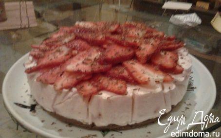 Рецепт Клубничный торт без запекания