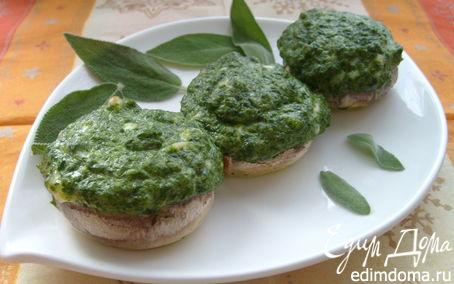 Рецепт Шампиньоны, фаршированные сыром