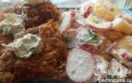Рецепт Венские ореховые шницели со сливочным картофельным салатом
