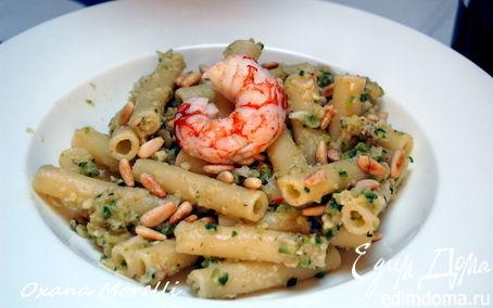 Рецепт Паста с креветками и цукини