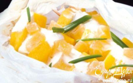 Рецепт Шашлыки из ананаса с соусом крем-фреш