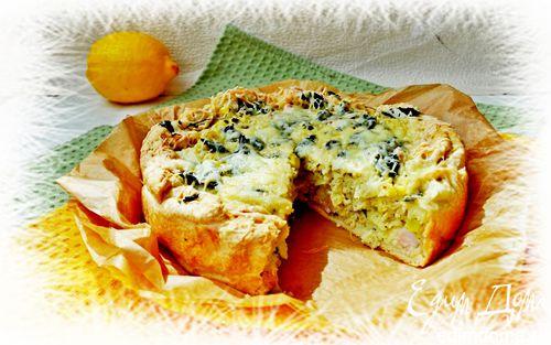 Рецепт Открытые пироги с кабачками, мятой, кускусом и ...