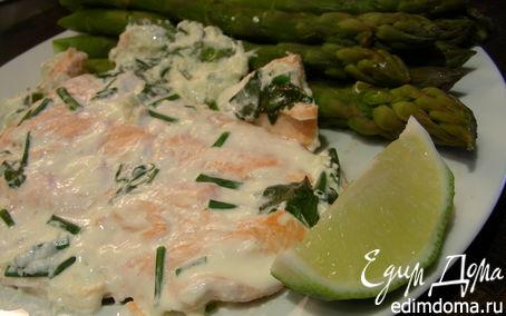 Рецепт Лосось в базиликово-лаймовом соусе