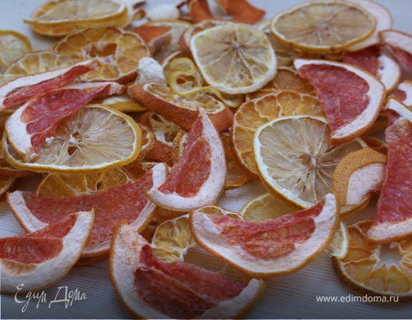 Сушеные мандарины, лимоны, грейпфруты/Dried tangerines, lemons, grapefruits